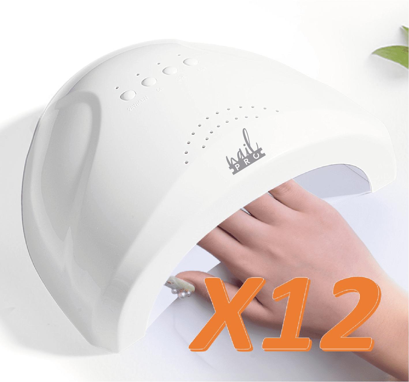 12 Lámparas Nail Pro al por mayor