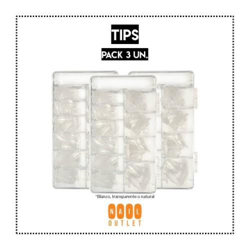3 Sets de 500 tips (variedades)