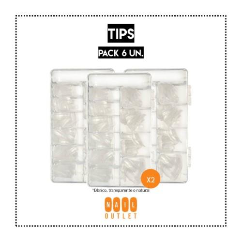 6 Sets de 500 tips (variedades)