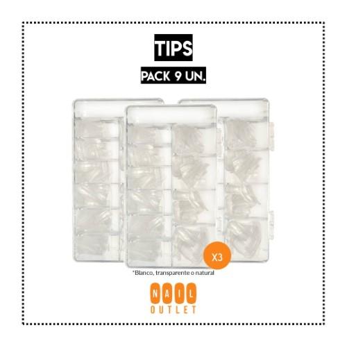 9 Sets de 500 tips (variedades)