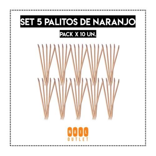 10X - SET 5 PALITOS DE NARANJO