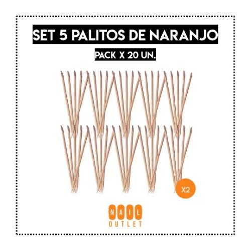 20X - SET 5 PALITOS DE NARANJO