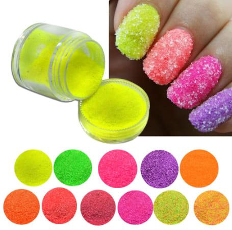 Set polvo efecto azúcar (12 colores)
