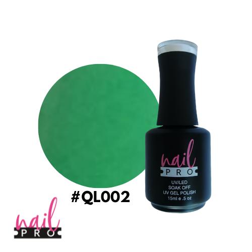 NAIL PRO Esmalte Permanente QL002 Verde Manzana fluor