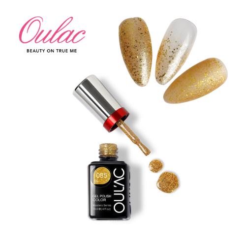 OUL'AC MASTER Esmalte Permanente DS085 Glitter Dorado