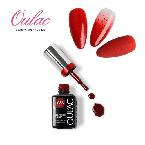 OUL'AC MASTER Esmalte Permanente DS088 Glitter Rojo