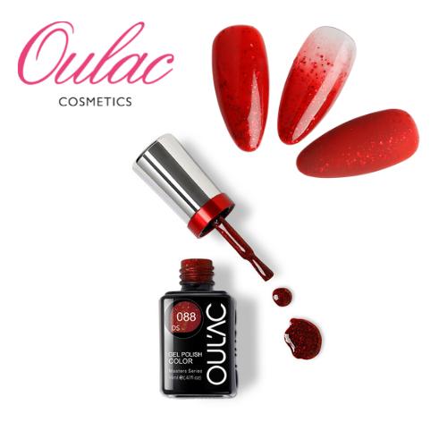 OULAC MASTER Esmalte Permanente DS088 Glitter Rojo