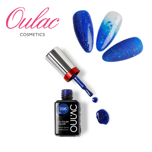 OULAC MASTER Esmalte Permanente DS096 Glitter Azul