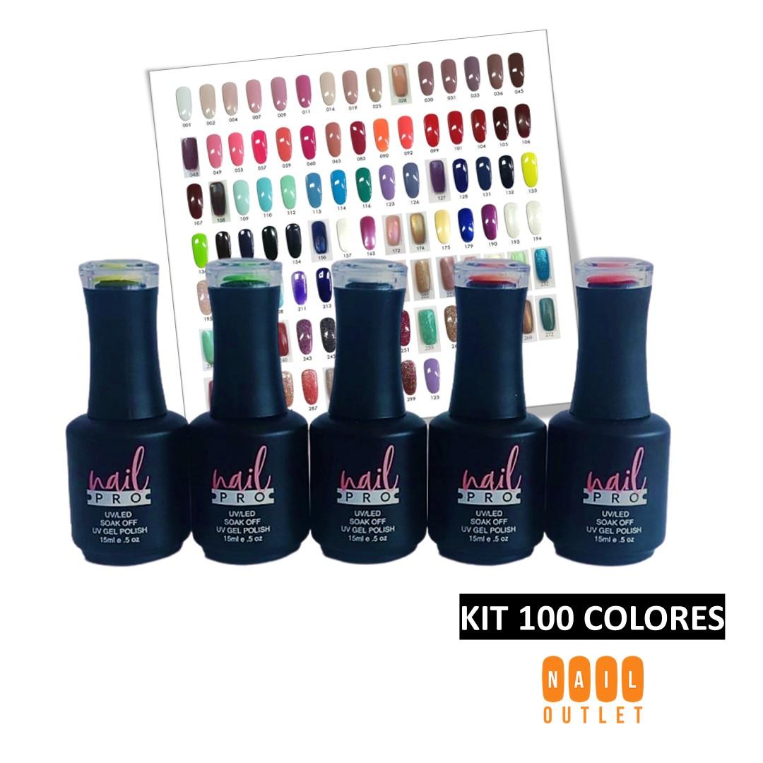 Pack 100 Esmaltes Permanentes Nail Pro