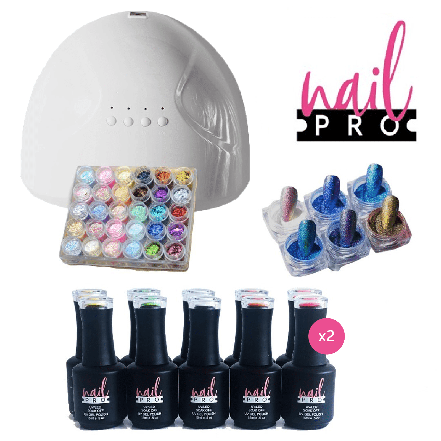 PACK NAIL ART 20 COLORES NAIL PRO 2.0