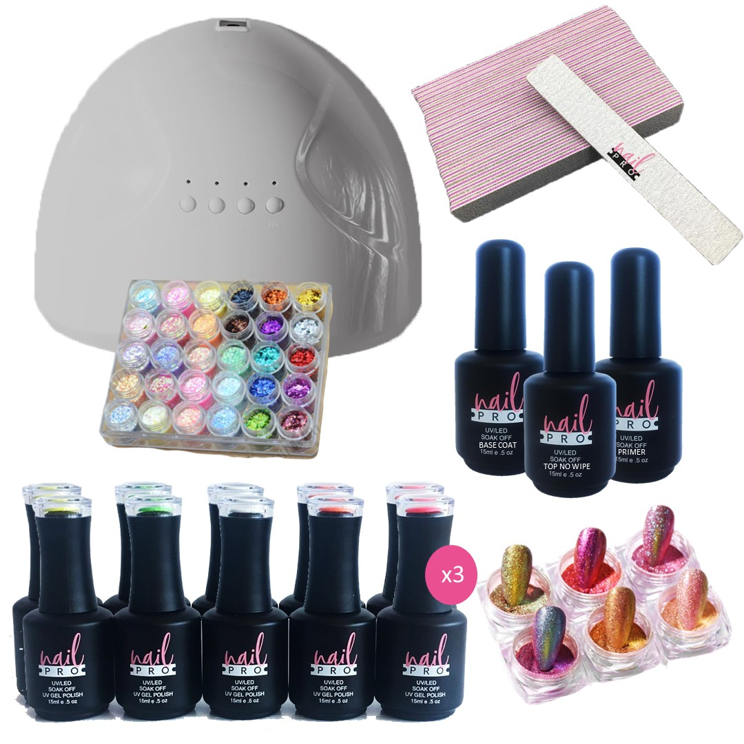 Pack Nail Art 30 Colores