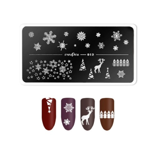 STAMPING PLACA 12 CHRISTMAS TIME